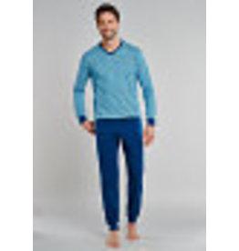 Schiesser Schiesser Pyjama 171964 heren lichtblauw