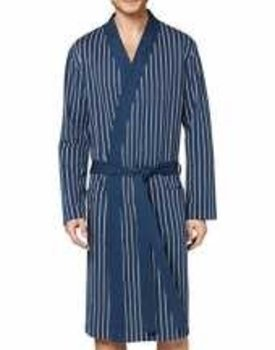 Schiesser herenbadjas 169704 streep blauw/wit