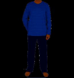 Schiesser Schiesser heren pyjama 168821 lang royal blauw