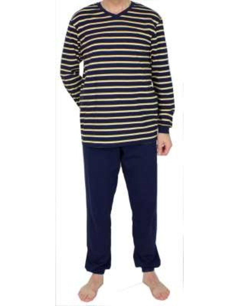Schiesser Schiesser heren pyjama 168817 lang donkerblauw