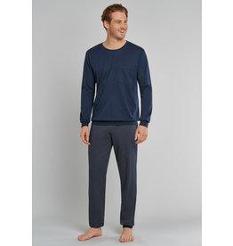 Schiesser Schiesser heren pyjama 171427 dark blue