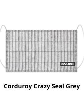 Snurk Mondkapje Corduroy Crazy Seal Grey