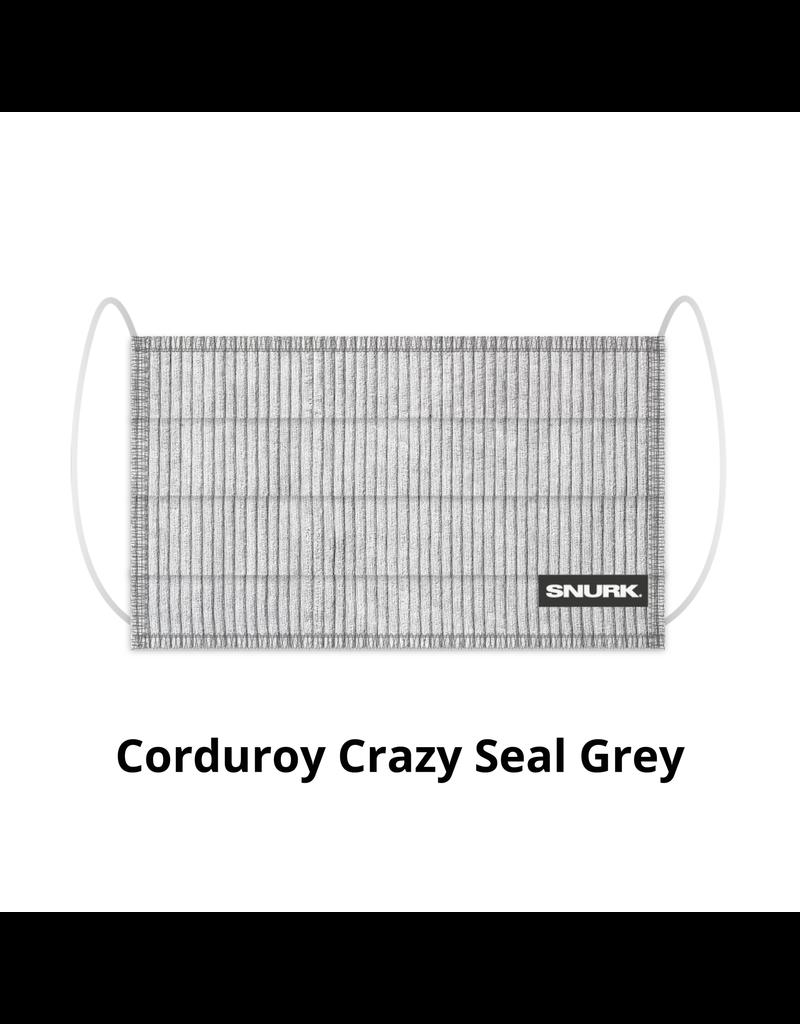 Snurk Snurk Mondkapje Corduroy Crazy Seal Grey