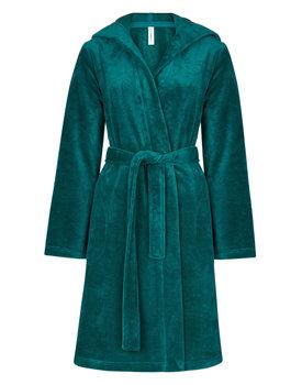 Taubert damesbadjas Bamboo 100cm met capuchon dark-emerald