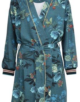 Pip Studio Ninny Kimono Leafy Stitch Big Blue