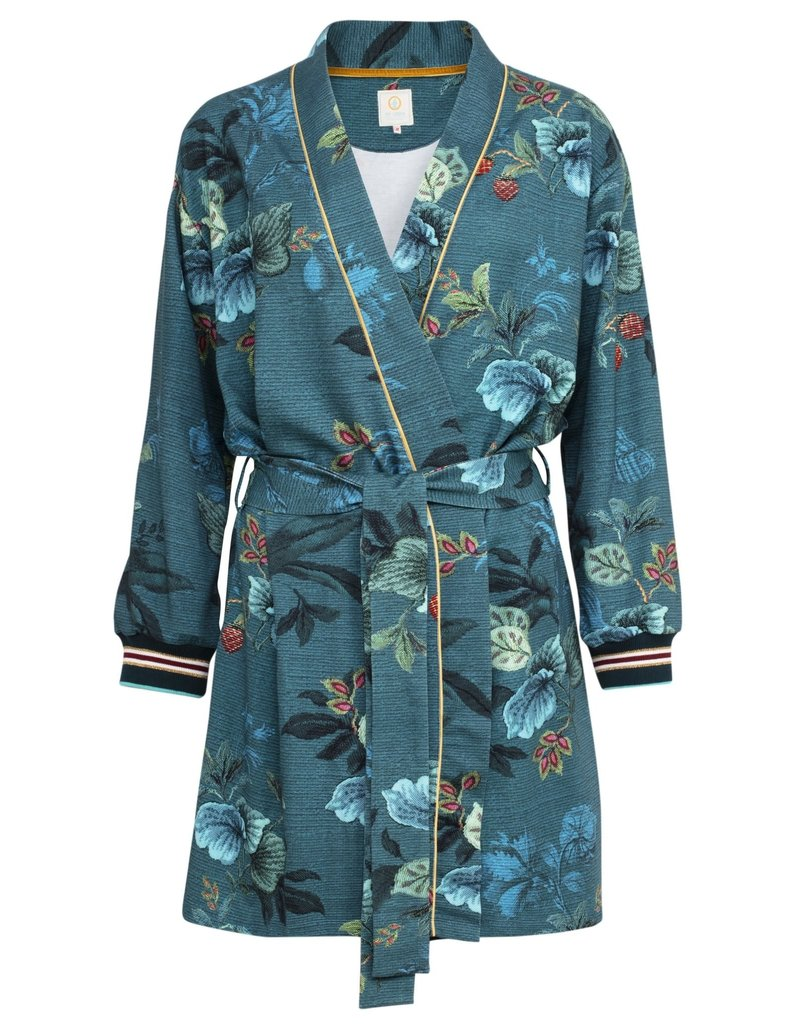 Pip Studio Pip Studio Ninny Kimono Leafy Stitch Big Blue