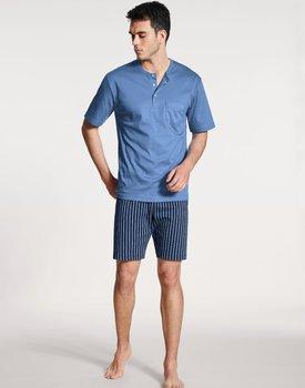 Calida herenpyjama kort 42682  bay blue