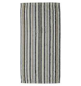 Cawö Cawo Lifestyle Streifen Handdoek 7048 Kiezelsteen-37 50x100