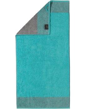 Cawo Two-Tone Handdoek Turkoois 50x100