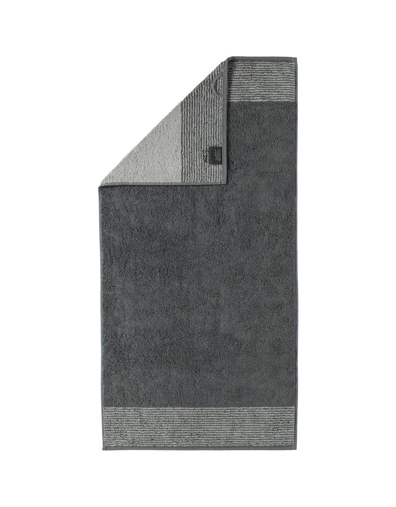 Cawö Cawo Two-Tone Handdoek Leisteen 50x100