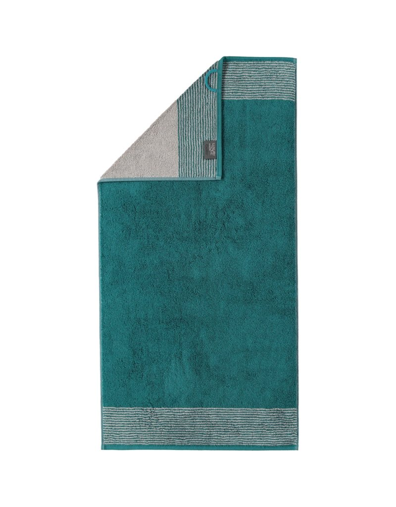Cawö Cawo Two-Tone Handdoek Smaragd 50x100