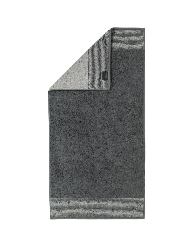 Cawö Cawo Two-Tone Badhanddoek Leisteen 80x150