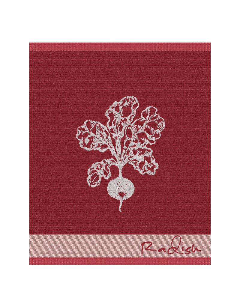 DDDDD DDDDD keukendoek radish 50x55  red per stuk