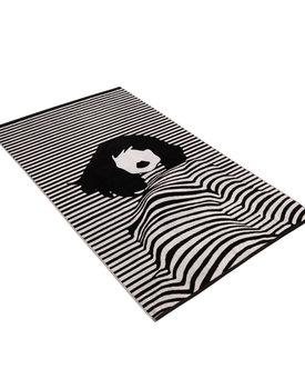 Vossen strandlaken Lady stripes black/white