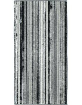 Cawo handdoek two-tone multistripe 50x100 leisteen