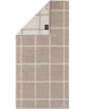 Cawo Two-Tone Grafik Handdoek  Schiefer 50x100