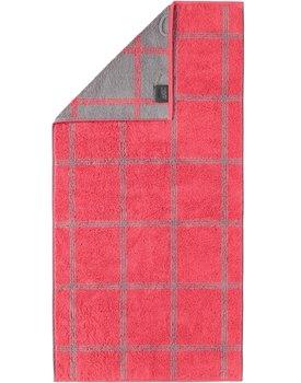 Cawo Two-Tone Grafik Handdoek  Rot 50x100