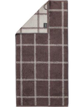 Cawo Two-Tone Grafik Handdoek  Pepper 50x100