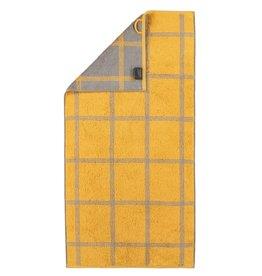 Cawö Cawo Two-Tone Grafik Handdoek  Curry 50x100