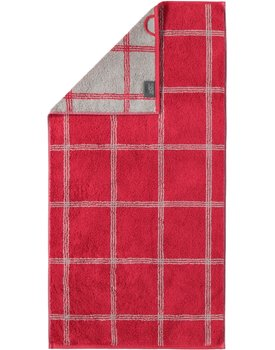 Cawo Two-Tone Grafik Handdoek  Bordeaux 50x100