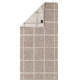 Cawö Cawo Two-Tone Grafik Badhanddoek Schiefer 80x150