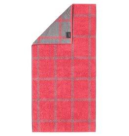 Cawö Cawo Two-Tone Grafik Badhanddoek Rot 80x150