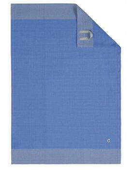 Cawö theedoek Two-tone 50x70 blauw