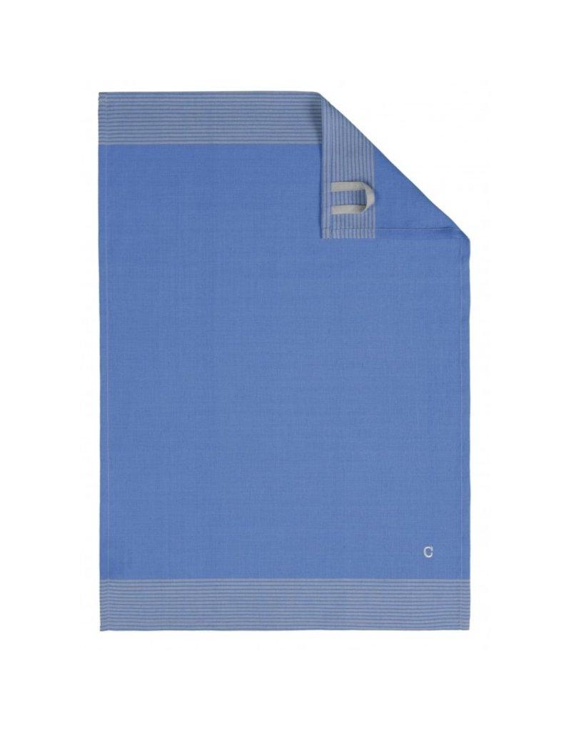 Cawö Cawö theedoek Two-tone 50x70 blauw