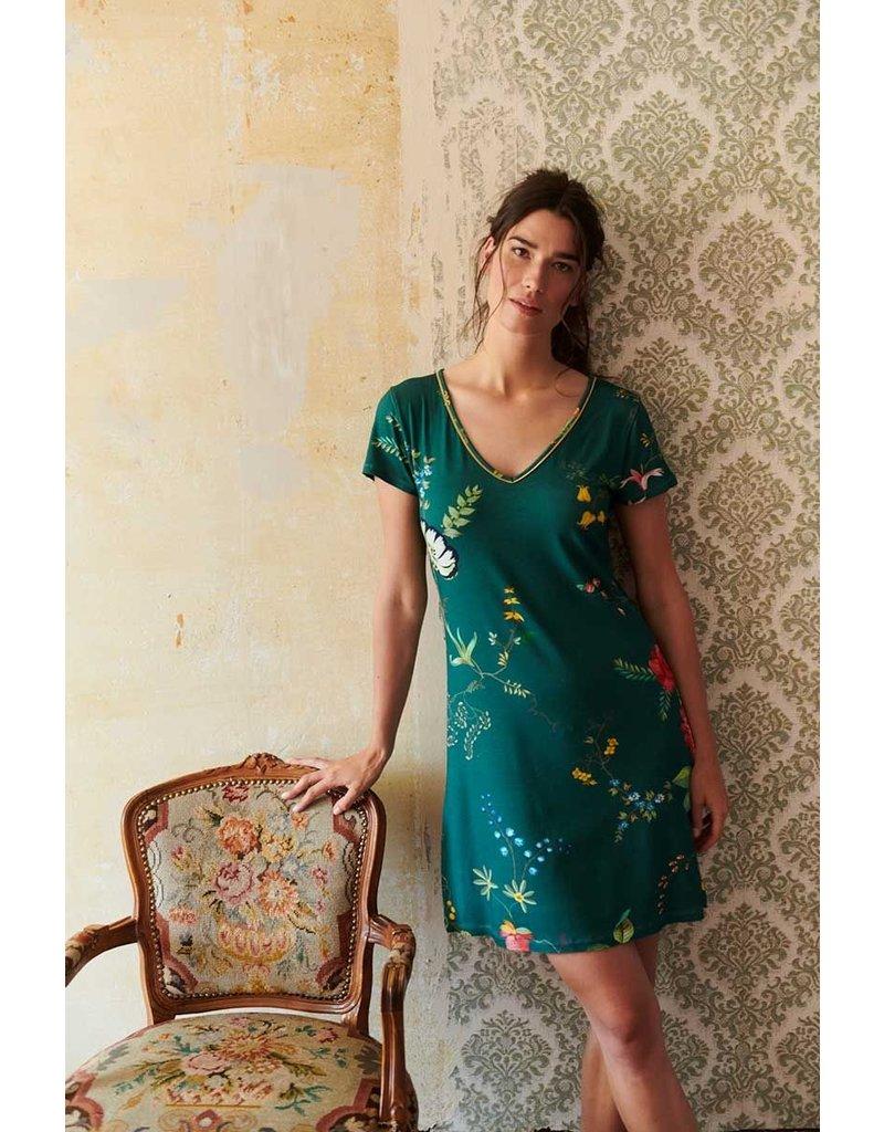 Pip Studio Pip Studio Djoy Night Dress Fleur Grandeur Green L