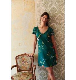 Pip Studio Pip Studio Djoy Night Dress Fleur Grandeur Green XL