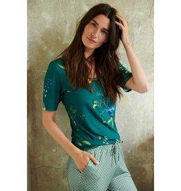 Pip Studio Pip Studio Tjess Short Sleeve Fleur Grandeur Green L