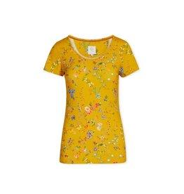 Pip Studio Pip Studio Tilly Short Sleeve Petites Fleurs Yellow L