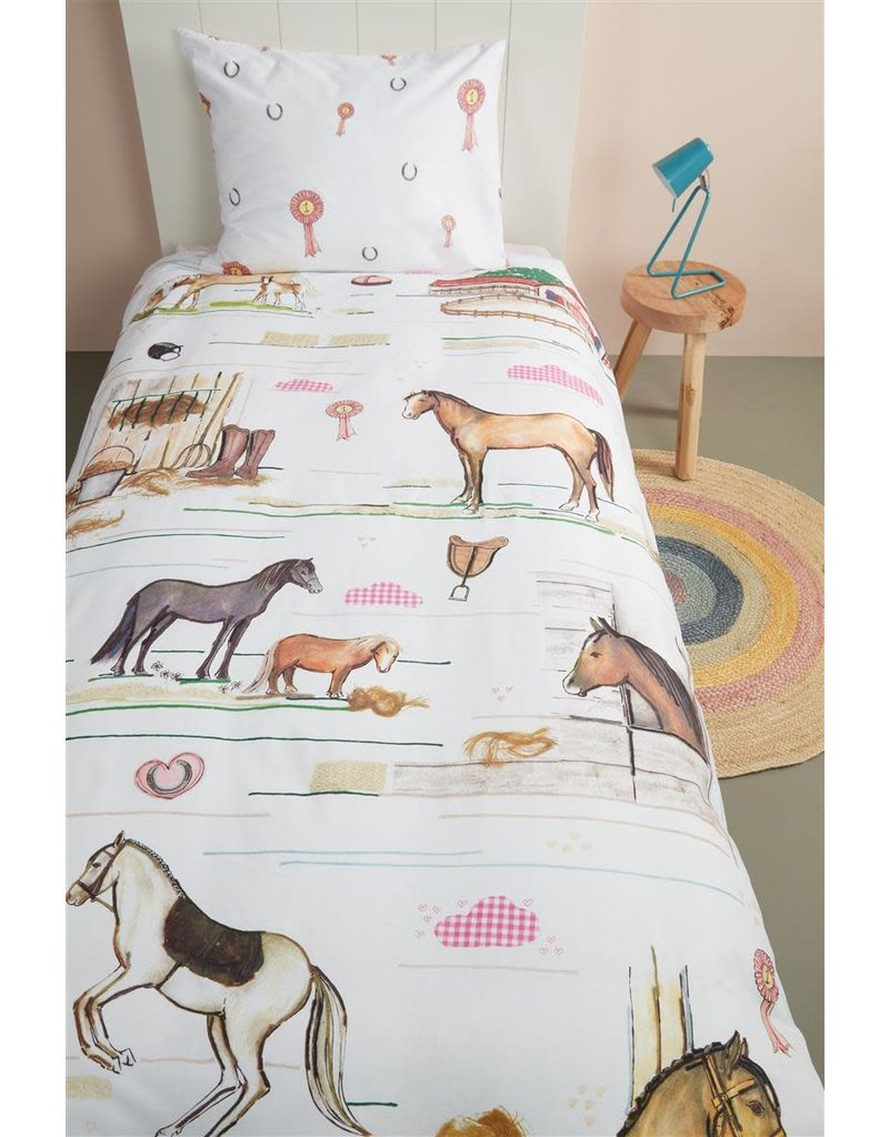 Beddinghouse Beddinghouse Kids Horse Ranch Dekbedovertrek - Multi 140 x 200/220