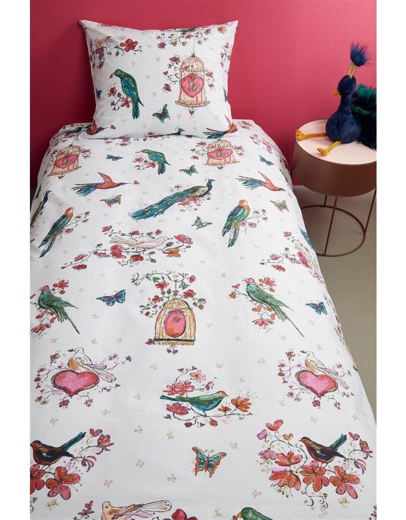 Beddinghouse Beddinghouse Kids Sweet Birds Dekbedovertrek - Roze 140 x 200/220