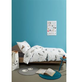 Beddinghouse Beddinghouse Kids Polar Animals Dekbedovertrek - Grijs 120 x 150