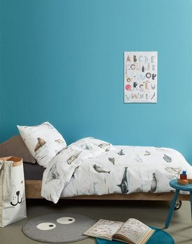 Beddinghouse Kids Polar Animals Dekbedovertrek - Grijs 120 x 150