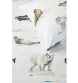 Beddinghouse Beddinghouse Kids Polar Animals Dekbedovertrek - Grijs 140 x 200/220