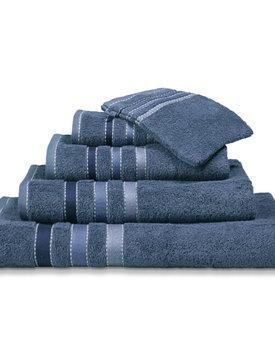 Vandyck handdoek 60x110 prestige lines  vintage-blue