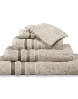 Vandyck handdoek 60x110 prestige lines  Stone