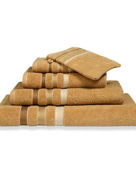 Vandyck handdoek 60x110 prestige lines  Sandy gold