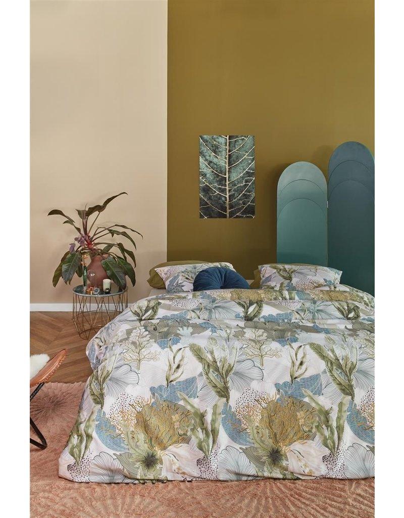 At Home by BeddingHouse Hidden Dekbedovertrek - Groen 240x200/220