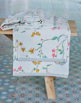 Pip Studio handdoek Les Fleurs White 55x100