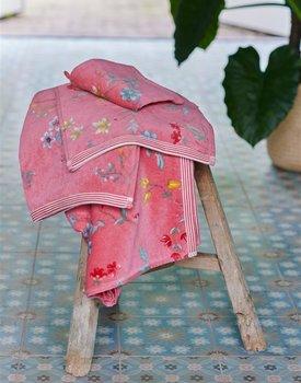 Pip Studio handdoek Les Fleurs Pink 55x100