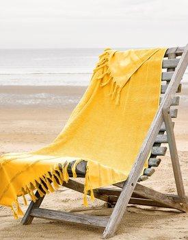 De Witte Lietaer strandlaken Fjara buff yellow