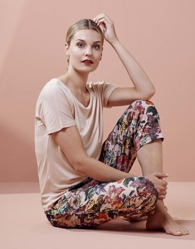 Essenza Ellen Uni Top Short Sleeve Rose XL