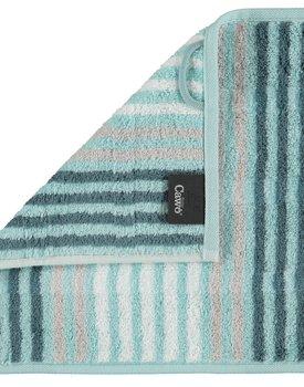 Cawö Noblesse Seasons Gezichtdoekje Streifen - mint - 30x30