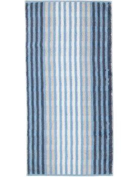 Cawö Noblesse Seasons Handdoek Streifen - sky - 50x100