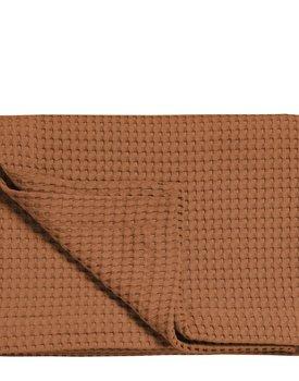 HNL Decor Plaid Wafel cognac brown