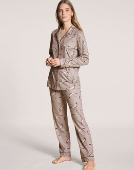 Calida dames pyjama 44323 etherea taupe