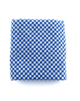 Bunzlau Castle keukendoek Small Check royal blue 53x60